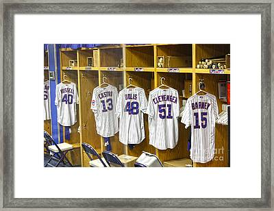 Cubs Working Clothes Framed Print by David Bearden