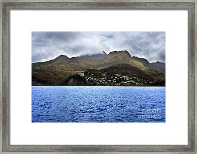 Cuddled  Fishing Village Framed Print