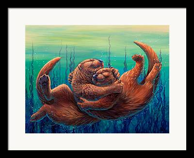 Otter Framed Prints
