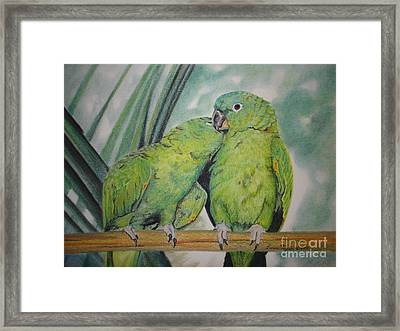 Cuddles Framed Print by Laurianna Taylor