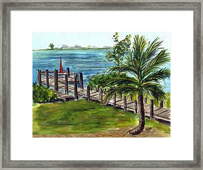 Cudjoe Dock Framed Print