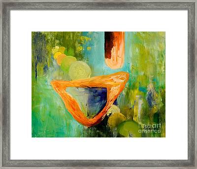 Cue L'orange Framed Print by Larry Martin
