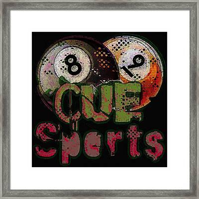 Cue Sports Framed Print by David G Paul