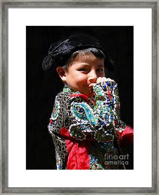 Cuenca Kids 243 Framed Print by Al Bourassa
