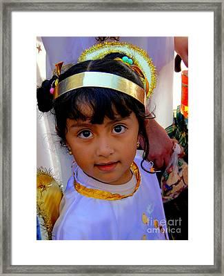 Cuenca Kids 246 Framed Print by Al Bourassa