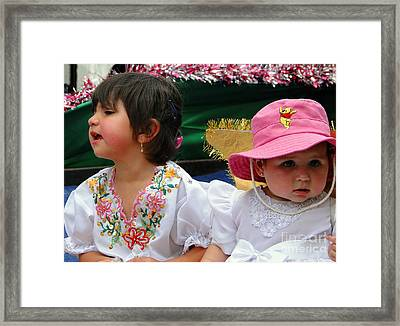 Cuenca Kids 250 Framed Print by Al Bourassa