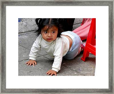 Cuenca Kids 251 Framed Print by Al Bourassa