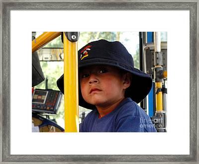 Cuenca Kids 252 Framed Print by Al Bourassa