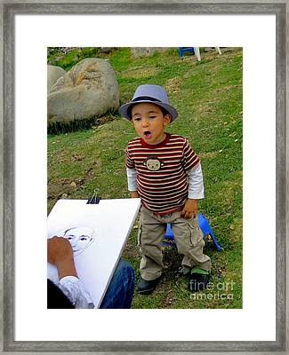 Cuenca Kids 265 Framed Print by Al Bourassa