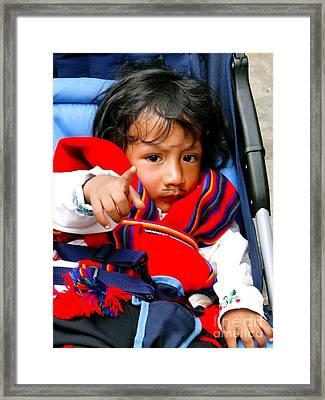 Cuenca Kids 306 Framed Print by Al Bourassa
