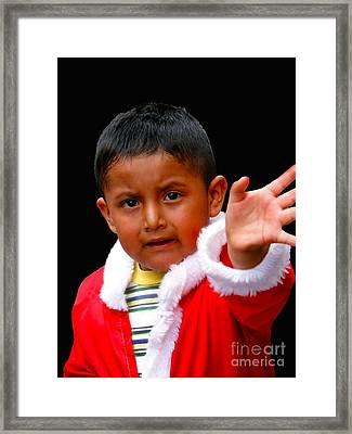 Cuenca Kids 308 Framed Print by Al Bourassa