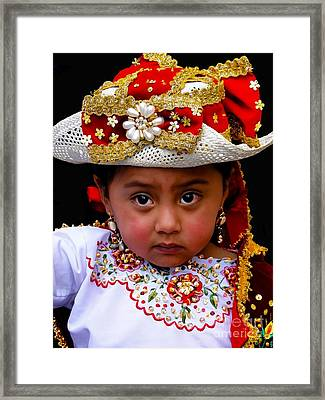 Cuenca Kids 309 Framed Print by Al Bourassa