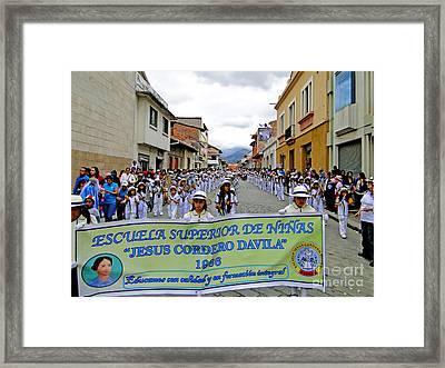 Cuenca Kids 326 Framed Print by Al Bourassa