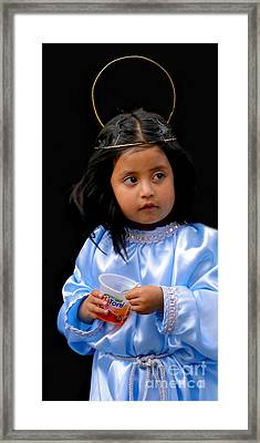 Cuenca Kids 348 Framed Print by Al Bourassa