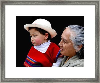 Cuenca Kids 381 Framed Print by Al Bourassa