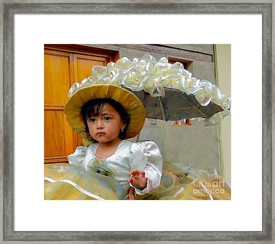 Cuenca Kids 382 Framed Print by Al Bourassa