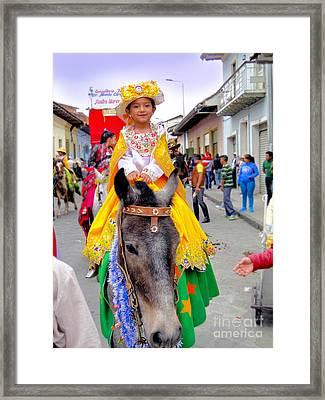 Cuenca Kids 389 Framed Print by Al Bourassa