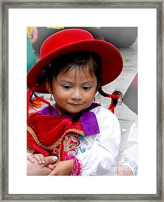 Cuenca Kids 403 Framed Print by Al Bourassa