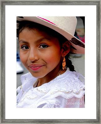 Cuenca Kids 409 Framed Print by Al Bourassa