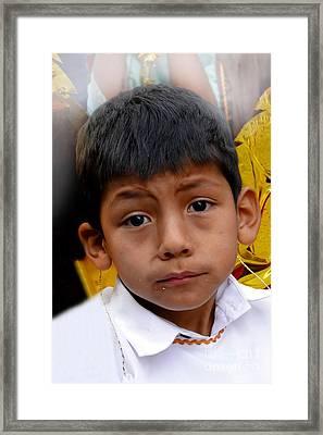 Cuenca Kids 411 Framed Print by Al Bourassa