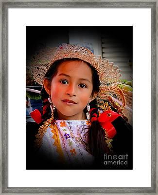 Cuenca Kids 415 Framed Print by Al Bourassa