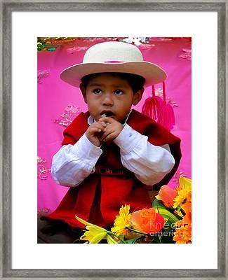Cuenca Kids 429 Framed Print by Al Bourassa