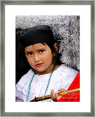 Cuenca Kids 438 Framed Print by Al Bourassa