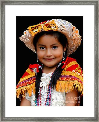 Cuenca Kids 447 Framed Print by Al Bourassa