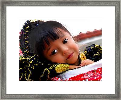 Cuenca Kids 451 Framed Print by Al Bourassa