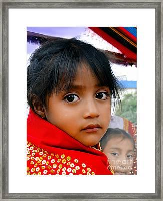 Cuenca Kids 462 Framed Print by Al Bourassa