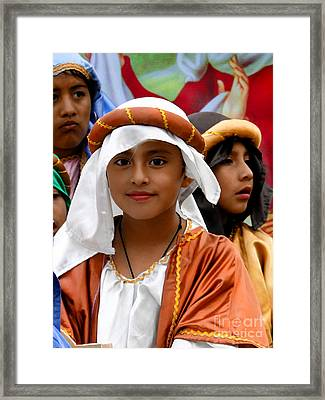 Cuenca Kids 464 Framed Print by Al Bourassa