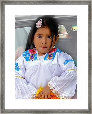 Cuenca Kids 487 Framed Print by Al Bourassa