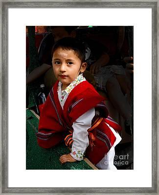 Cuenca Kids 508 Framed Print by Al Bourassa
