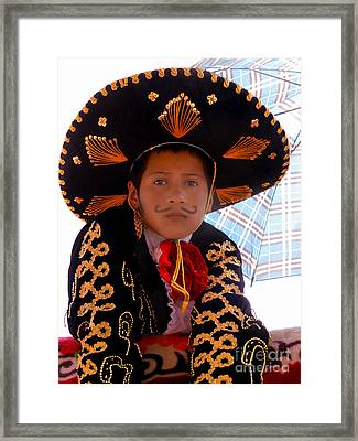 Cuenca Kids 521 Framed Print by Al Bourassa