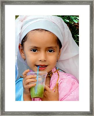 Cuenca Kids 541 Framed Print by Al Bourassa