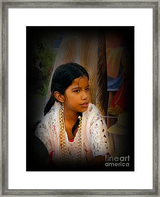 Cuenca Kids 551 Framed Print by Al Bourassa
