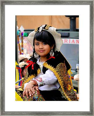Cuenca Kids 583 Framed Print by Al Bourassa