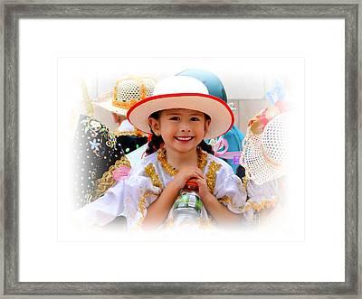 Cuenca Kids 585 Framed Print by Al Bourassa