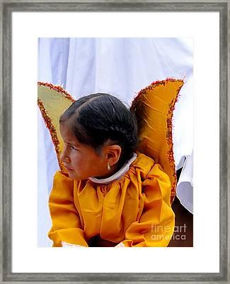 Cuenca Kids 593 Painting Framed Print by Al Bourassa