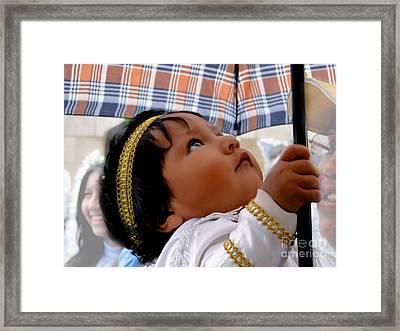 Cuenca Kids 597 Framed Print by Al Bourassa