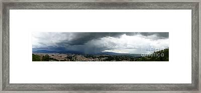 Cuenca Storm Panorama Framed Print by Al Bourassa