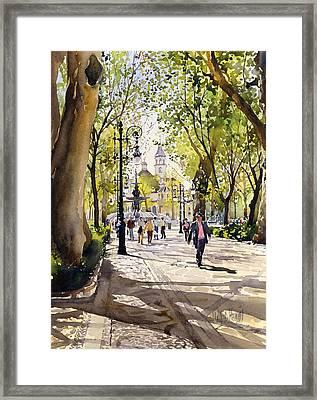 Cuesta Genil Framed Print by Margaret Merry