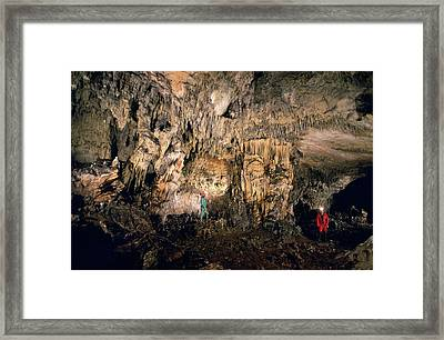 Cueva Mayor Cave Exploration Framed Print