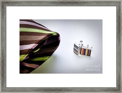 Cuff Links Framed Print by Tim Hester