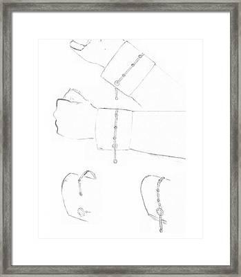 Cufflink Bracelets Framed Print by Giuliano Capogrossi Colognesi
