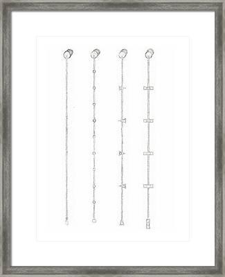 Cufflink Bracelets Version 1 Framed Print by Giuliano Capogrossi Colognesi