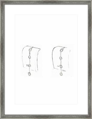 Cufflink Bracelets Version 2 Closing Framed Print by Giuliano Capogrossi Colognesi