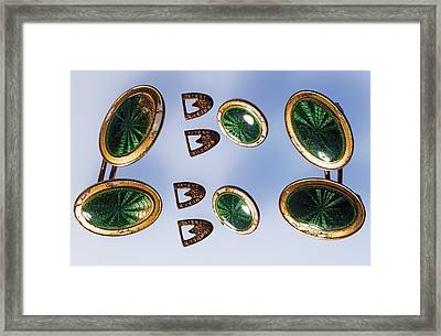 Cufflinks From The Titanic Framed Print by Science Photo Library