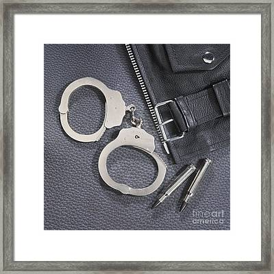 Cuffs Framed Print by Jerry McElroy
