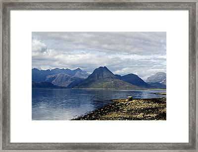 Framed Print featuring the photograph Cuillin Hills From Elgol Isle Of Skye by Sally Ross